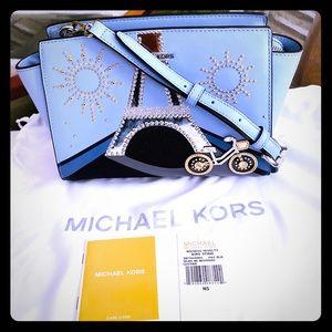 Michael Kors Selma Nouveau Novelty Paris Bag